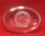 PAPERWEIGHT OVAL ETCHED SEAL