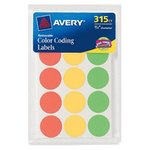 COLOR CODING LABELS REMOVEABLE 315 COUNT