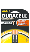 BATTERY DURACELL COPPERTOP AAA 2 PACK