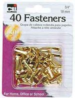 """FASTENERS 3/4"""" 40 COUNT"""