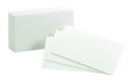 INDEX CARDS 4 X 6 BLANK