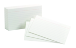 INDEX CARDS 4 X 6 RULED