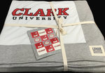 "BLANKET SPIRIT 80"" X 62"" C CLARK UNIV SEAL"