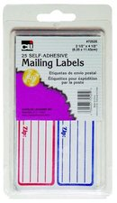 MAILING LABELS SELF-ADHESIVE 25 COUNT