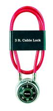 LOCK 3' MULTI-STRAND STEEL CABLE & LOCK