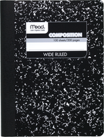 COMPOSITION BOOK 100 PAGES WIDE RULE