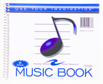 MUSIC BOOK 8 STAVE 7 X 8.5 24 SHEETS