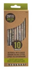 PENCIL 10PK WITH WHITE ERASER HB #2 RECYCLED NEWSPARPER SHARPENED