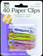 PAPER CLIPS JUMBO ASSORTED 40 COUNT