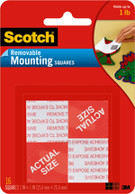 MOUNTING SQUARES REMOVABLE