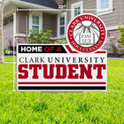 LAWN SIGN HOME OF A SEAL CLARK UNIVERSITY STUDENT