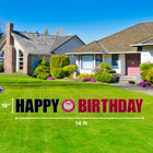 LAWN SIGN HAPPY SEAL BIRTHDAY