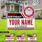 LAWN SIGN HAPPY BIRTHDAY SEAL YOUR NAME CLARKIE