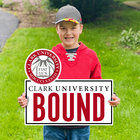 LAWN SIGN SEAL CLARK UNIVERSITY BOUND