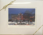 PRINT MATTED 11 X 14 JONAS CLARK HALL WINTER LANDSCAPE