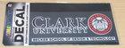 DECAL OUTSIDE CLARK UNIV SEAL BECKER SCHOOL OF DESIGN & TECH
