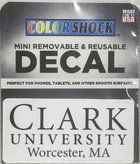 DECAL MINI REMOVABLE CLARK UNIV WORC MA