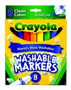 MARKER ULTRA CLEAN WASHABLE COLOR MAX 8 PACK