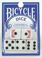 BICYCLE DICE 5 DIES