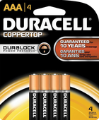 BATTERY DURACELL COPPERTOP AAA 4 PACK