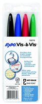 MARKER VIS-A-VIS 4 PACK ASSORTED COLORS