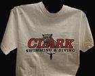 T-SHIRT UNIVERSITEE CLARK SWIMMING & DIVING