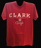 T-SHIRT UNIVERSITEE CLARK UNIV WIFE