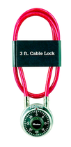LOCK 3' MULTI-STRAND STEEL CABLE & LOCK