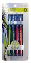 HIGHLIGHTER 4PK FINE TIP ASST COLORS RECYCLED PET