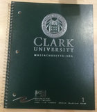 NOTEBOOK 1 SUBJECT SEAL CLARK UNIV WORC MA ASST COLORS
