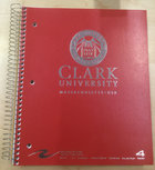 NOTEBOOK 4 SUBJECT SEAL CLARK UNIV WORC MA ASST COLORS