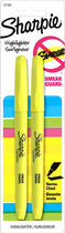 HIGHLIGHTER 2 PACK NARROW CHISEL YELLOW