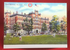 NOTE CARD VINTAGE JONAS CLARK HALL WITH STUDENTS