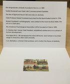 NOTE CARD VINTAGE AERIAL VIEW OF CLARK UNIV CAMPUS