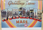 NOTE CARD VINTAGE GREETINGS FROM WORCESTER MASS