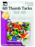 THUMB TACKS ASSORTED 60 COUNT