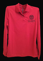 POLO WOMENS LONG SLEEVE OMEGA MESH TECH SEAL CLARK UNIV