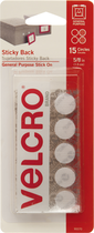 "VELCRO CIRCLES 5/8"" 15 COUNT"